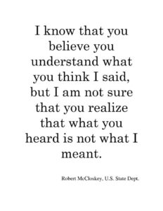 Its Not What You Say Its What They Hear Getting Your Messaging