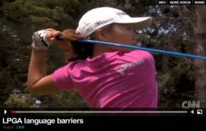 LPGA Language Training on CNN